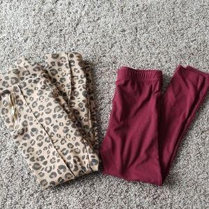 Girls pant bundle size small 6